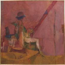 Robert Brisley (American, 20th Century) Fisherman, Oil on canvas,