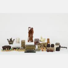 A Miscellaneous Collection of Asian Decorative Items, 20th Century,