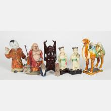 A Miscellaneous Collection of Chinese Ceramic, Porcelain and Composite Figural Decorative Items, 20th Century.
