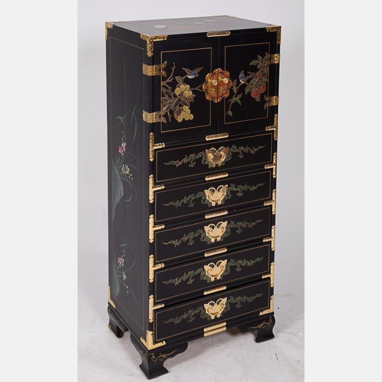 kitchen cabinets furniture a lacquered chest of drawers with brass fitting 20435