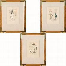 Salvador Dali (1904-1989) Three Works from the Shakespeare Series, Lithographs,