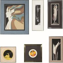 John L. Eastman (20th Century) Six Works, Serigraphs and silkscreens,