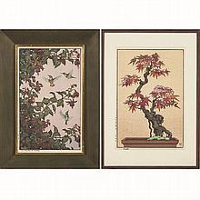 Tsukasa Yoshida (b. 1949) Maple, Woodcut in color,