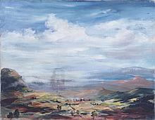 Martha Joy Gottfried (b. 1925) Arizona Landscape, Oil on canvas,