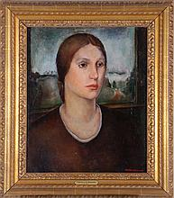 Tressa Emerson Benson (1896-1987) Portrait of a Lady, Oil on canvas,
