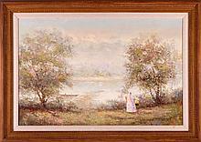 Pierre du Bois (French, 20th/21st Century) Impressionist Landscape, Oil on canvas,