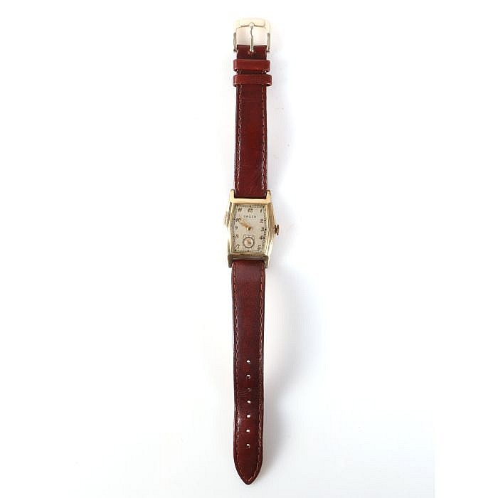 A Yellow Gold Filled Gruen Wrist Watch, 20th Century.