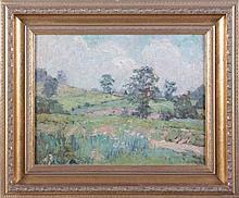 Elise L. Bradford (20th Century) Pastoral Landscape, Oil on artist board,
