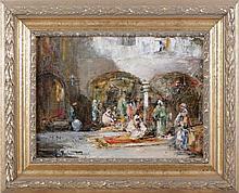 Douglas Arthur Teed (1864-1929) Arab Scene with Archway, Oil on canvas,