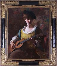 Samuel Burtis Baker (1882-1967) Viola with a Guitar, Oil on canvas,
