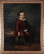 English School (19th Century) Portrait of a Boy, Oil on canvas,