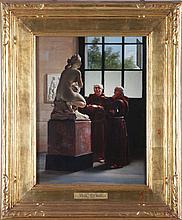 Jules Scalbert (1851-1928) The Connoisseurs, Oil on canvas,