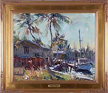 Robert C. Gruppé (b. 1944) Tropical Waterways, Oil on canvas,