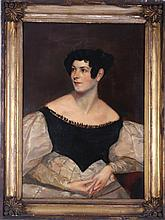 English School (19th Century) Portrait of a Lady, Oil on canvas.