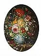 Stanislas Kostka (b.1954) Floral Miniature, Oil on board,