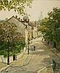 Claude Jousset (b. 1935) Paris City Scene, Montmartre, Oil on canvas,
