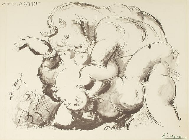 After Pablo Picasso (1881-1973) The Minotaur, Lithograph,