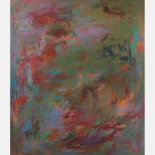Al Newbill (1921-2012) Abstraction, Oil on canvas,