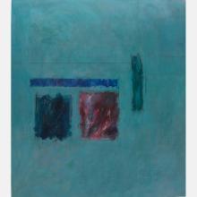 Al Newbill (1921-2012) Sentinels, Oil on canvas,