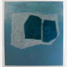 Al Newbill (1921-2012) Winter Rocks, Oil on canvas,