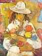 Wadie El Mahdi (1921-2001) 'Jeune Fille aux, Wadie  El Mahdy , Click for value