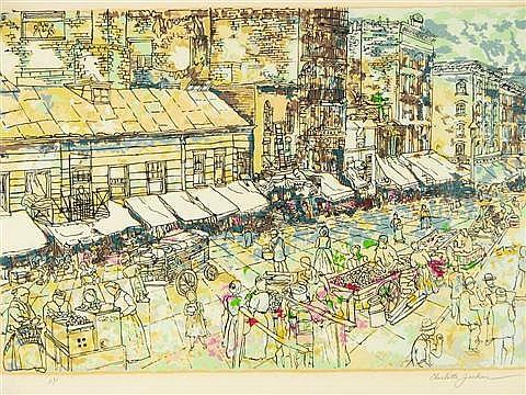 Charlotte Jackson (b.1926) Street Scene
