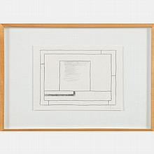 Peter Halley (b. 1953) Untitled, Pencil and ink on paper,