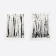Gerald Giamportone (20th/21st Century) Two Untitled Works, Ink on paper,