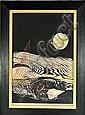 Reika Iwami (b.1927) Abstract, Woodcut,, Reika Iwami, Click for value