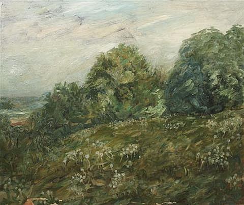 William George Reindel (Cleveland, 1871-1948) Landscape 1911 Oil on canvas.