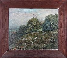 William George Reindel (Cleveland, Ohio, 1871-1948) Landscape, 1911, Oil on canvas,