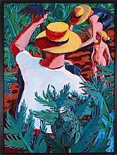 Mark David Gottsegen (1948-2013) Not Art Among the Artichokes, 1994, Acrylic on paper mounted on wood.
