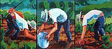 Mark David Gottsegen (1948-2013) Three Untitled Works, Acrylic on canvas,