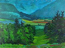 Mark David Gottsegen (1948-2013) Tyringham Valley #11, Oil on canvas,