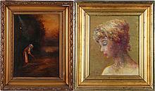 Ilona (19th/20th Century) Golden Girl, Oil on canvas,