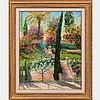 Elayne Addari (b. 1936) A Jardin a Cannes Oil on canvas, Elyane Addari, Click for value