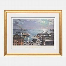 John Stobart (b. 1929) Jacksonville Lithograph