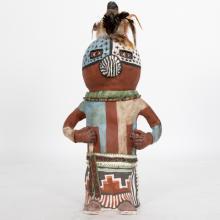 Molly Heizer (b. 1956) Coyote Clan Kachina Doll, Handmade ceramic,