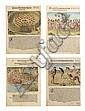De BRY, Theodor (1528-1598). A Group of Four Hand Colored Engravings,, Theodor de Bry, Click for value