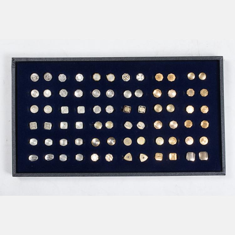 A Miscellaneous Collection of Thirty-Six Pairs of Vintage Shirt Studs by Various Makers, 20th Century.