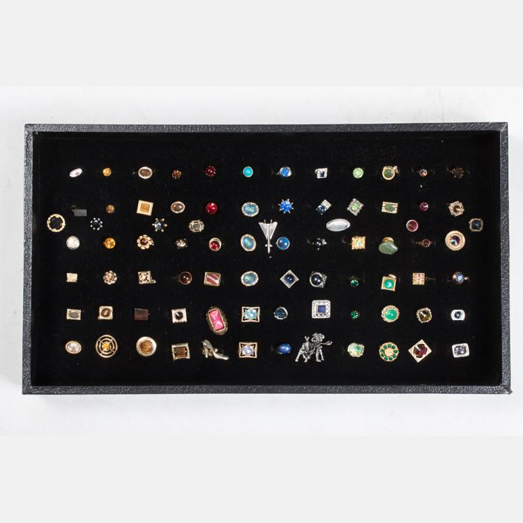 A Miscellaneous Collection of Eighty Tie Pins by Various Makers, 20th Century,
