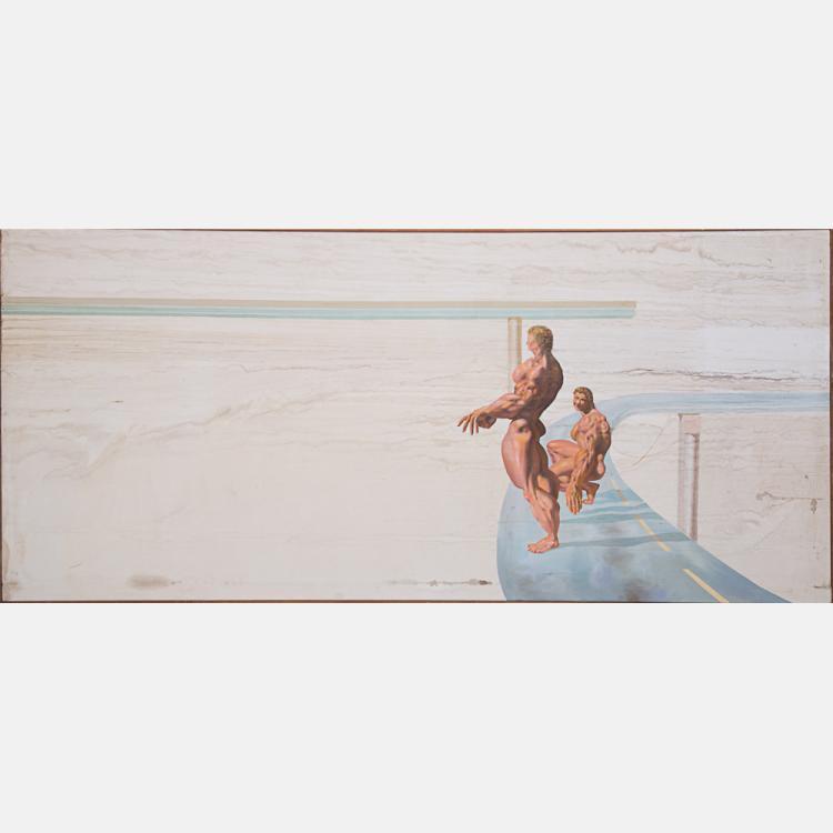 Thomas E. Gordon (20th Century) Untitled, Oil on canvas,