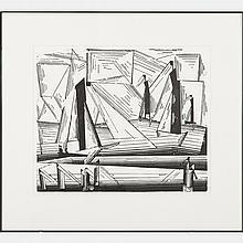 Lyonel Feininger (American, 1871-1956) Fishing Boats (Prasse W245), 1971, Woodcut,
