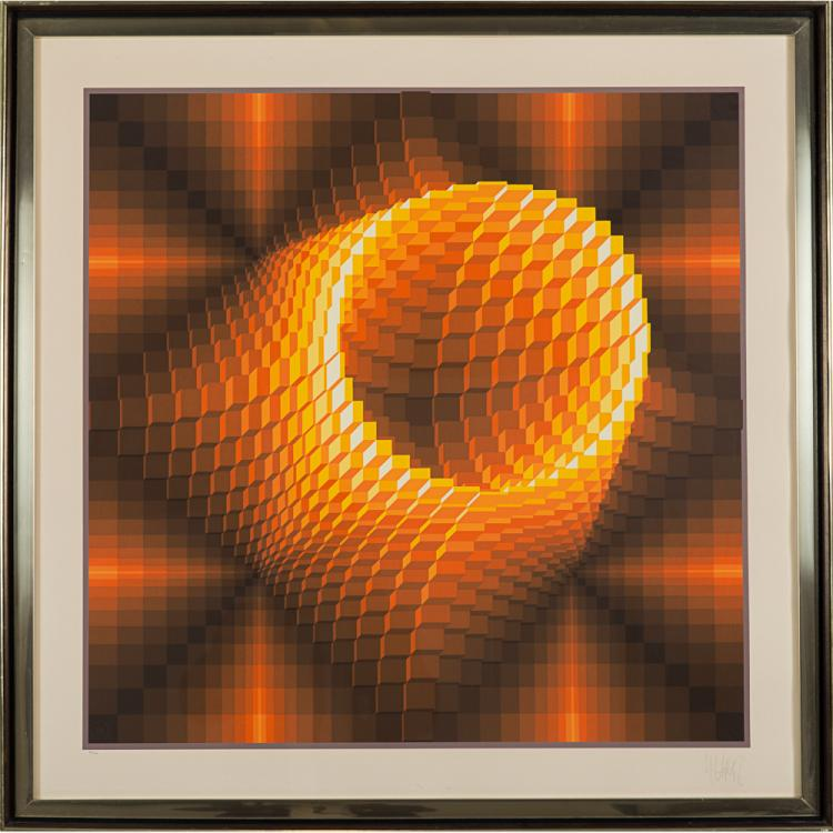 Jean-Pierre Vasarely (Yvaral) (1934-2002) Untitled, Silkscreen,