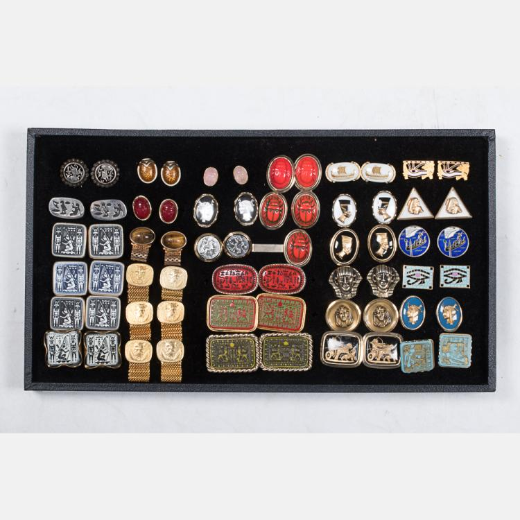 A Miscellaneous Collection of Thirty-Two Pairs of Vintage Cufflinks by Various Makers, 20th Century,