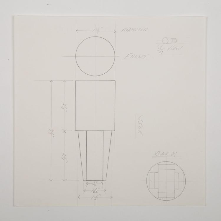 Gerald Giamportone (20th/21st Century) Column, Pencil on paper,