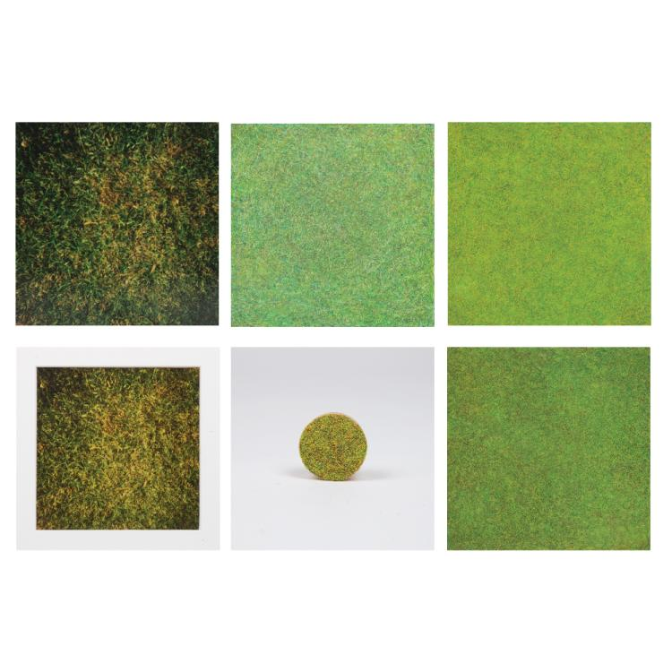 William Radawec (1952-2011) Four Artworks from the 'Soul Patch (the Sequel)' Series, Color pencil on paper mounted on wood,