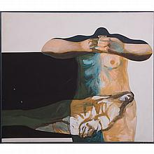Thompson Lehnert (b. 1931) Pieta, Polymer on canvas,