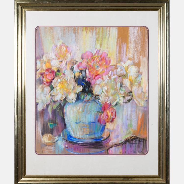 Elizabeth Hamilton Huntington (1878-1963) Still Life Bouquet, Pastel on paper,