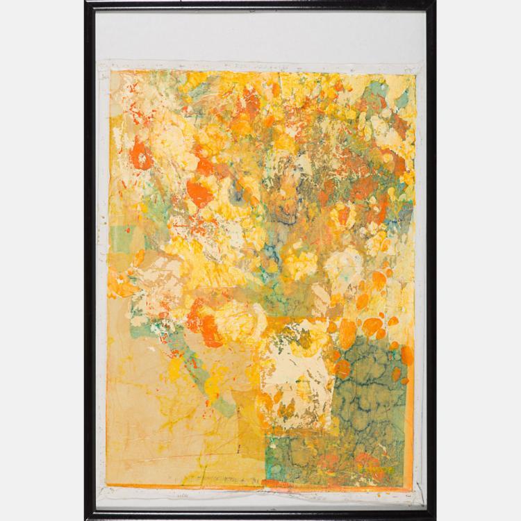 Nanci Blair Closson (b. 1943) Untitled, Mixed media on canvas,